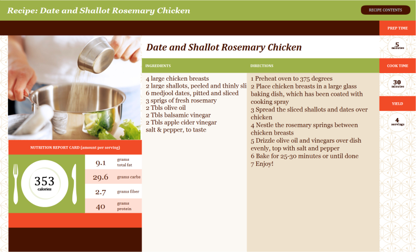 date shallot chicken